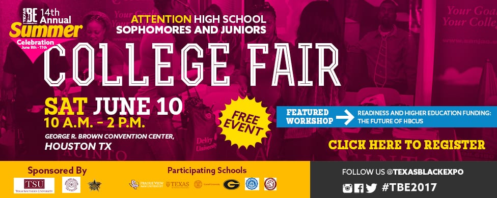 TBE College Fair Career Expo Banner