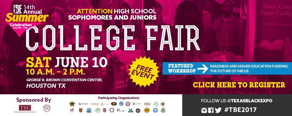 TBE College Fair Career Expo Banner