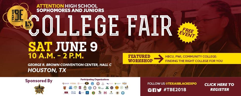 TBE College Fair 2018 Banner